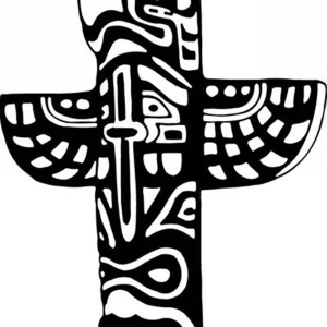 Native American Totem with Tribal Symbols for Native American Day Coloring Page