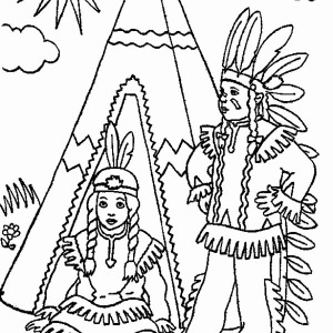 native american welcoming people on native american day coloring ... - Native American Pictures Color