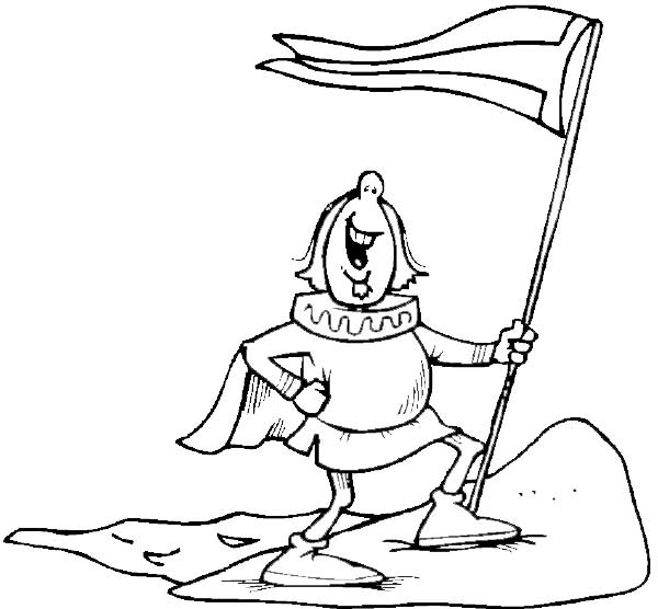 Columbus Landed With Flag On Columbus Day Coloring Page Imagenes De Columbus Day For Coloring