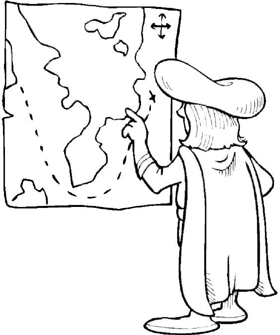 columbus with india route on columbus day coloring page download