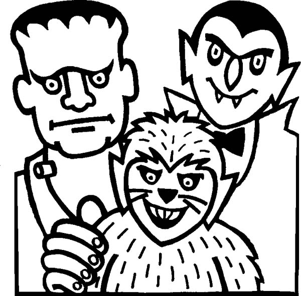 Mr Frankenstein, Count Draculas and Werewolf on Halloween Day ...