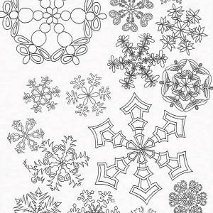 christmas snow flacks coloring pages - photo#29