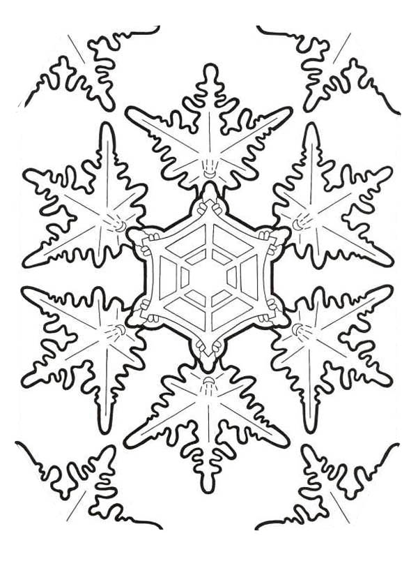Amazing Christmas Snowflakes Coloring Page - Download & Print Online ...
