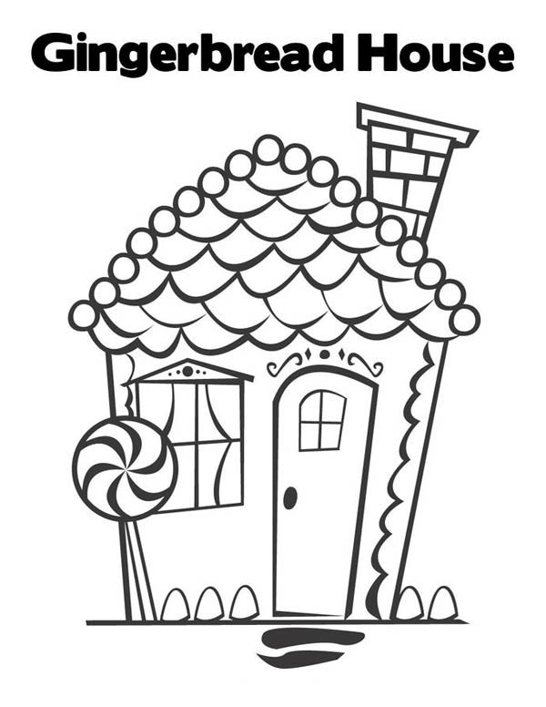 Beautiful Christmas Gingerbread House Coloring Page - Download ...