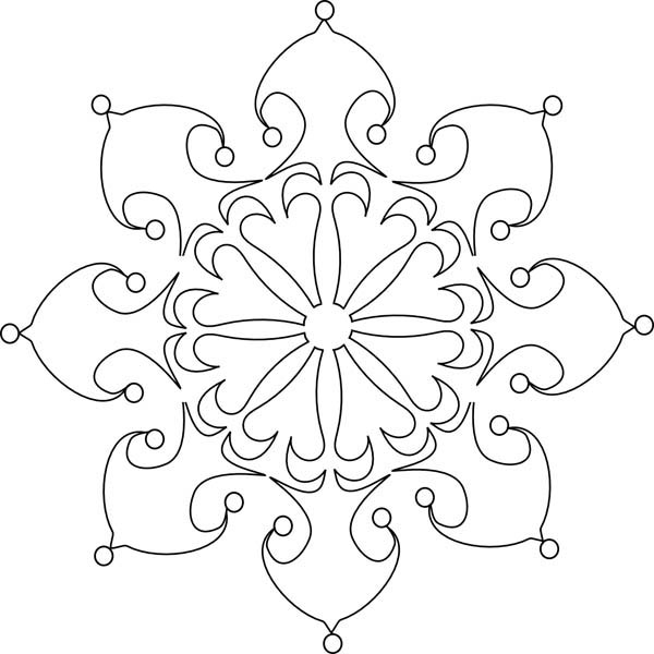 beautiful christmas snowflakes coloring page - Snowflake Coloring Page