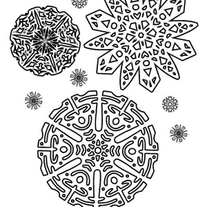 beautiful christmas snowflakes pattern coloring page - Christmas Snowflake Coloring Pages
