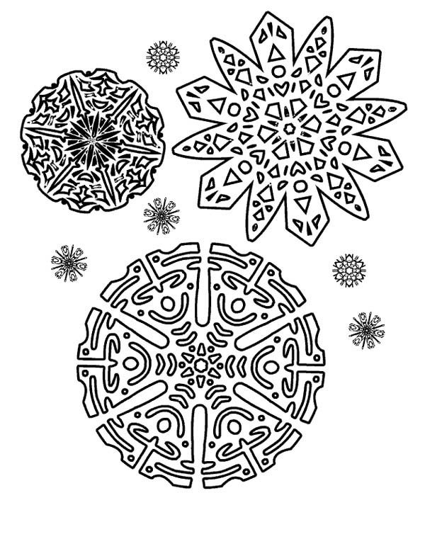beautiful christmas coloring pages - beautiful christmas snowflakes pattern coloring page