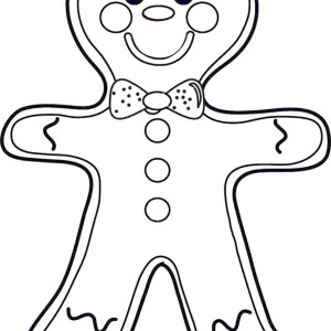 Christmas Cheeky Mr Gingerbread Men On Coloring Page
