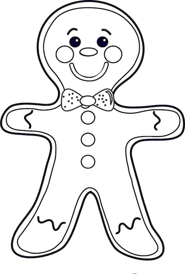 Cheeky Mr Gingerbread Men on Christmas Coloring Page Download
