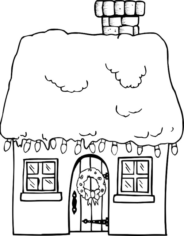 Christmas Gingerbread House And A Bunch Of Lamp Coloring