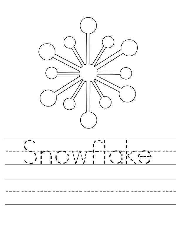Christmas snowflake free colouring pages