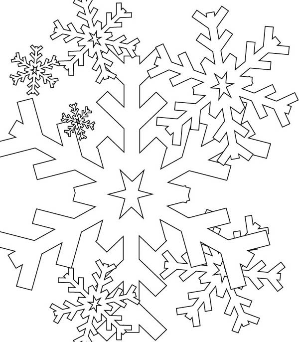 christmas snow flacks coloring pages - photo#14