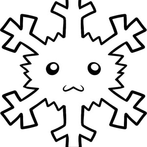 Christmas Snowflakes Face Coloring Page
