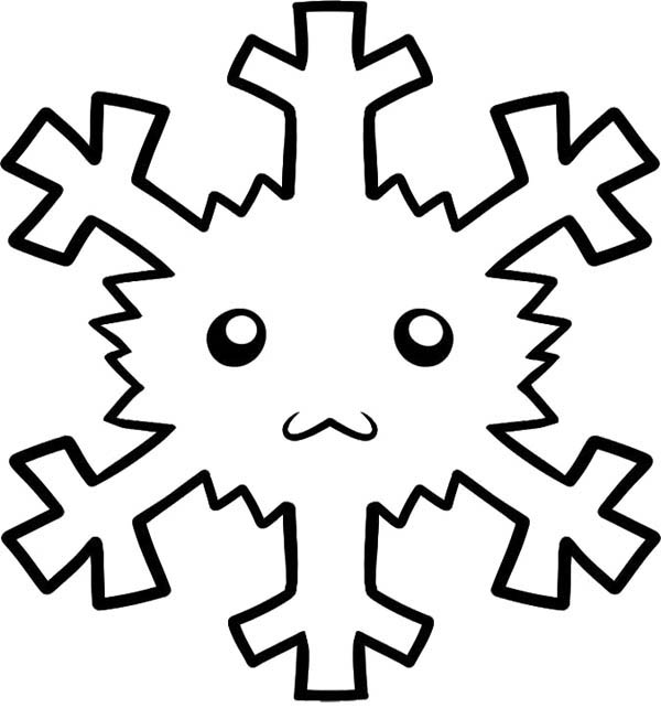 christmas snowflakes face coloring page - Christmas Snowflake Coloring Pages