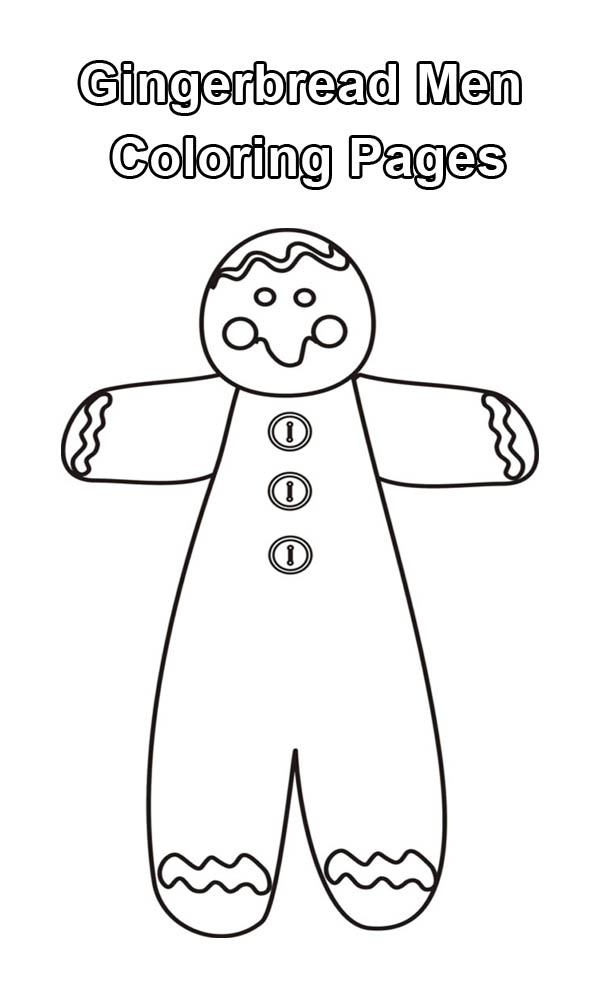 Huge Mr Gingerbread Men Cookie For Christmas Coloring Page