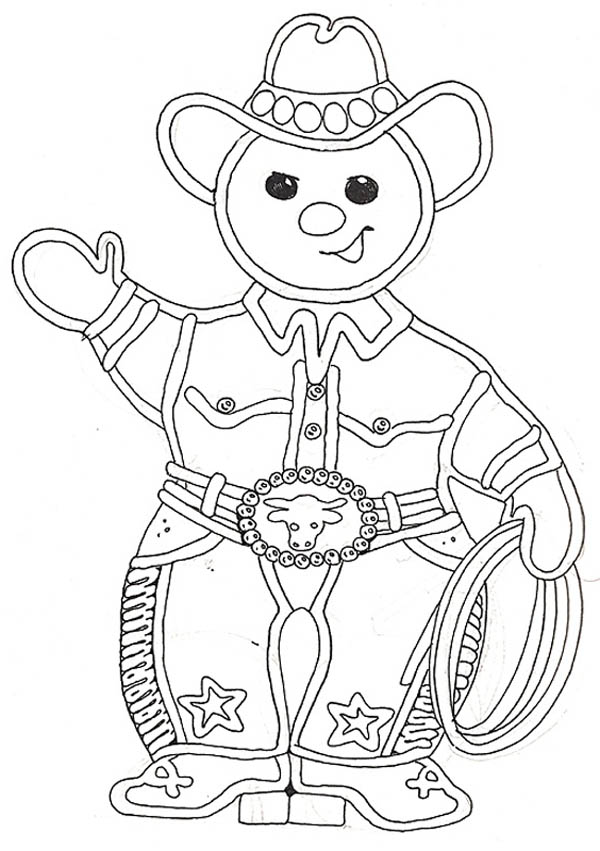 christmas mr gingerbread men as a cowboy on christmas coloring page - Coloring Pages For Men