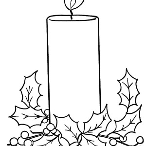 Christmas Candle Blowing by the Wind Coloring Pages Christmas