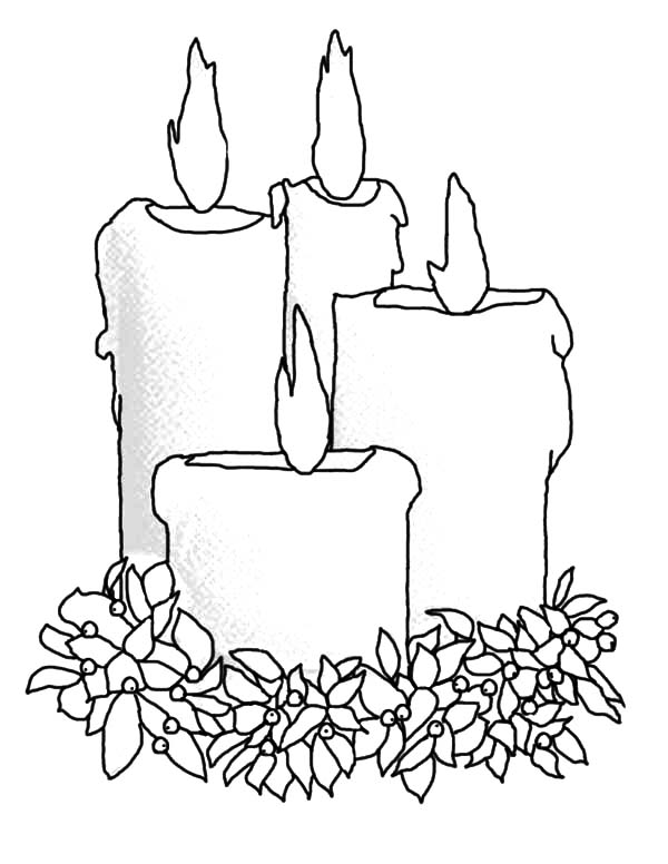 Christmas Candle Coloring Pages - Download & Print Online Coloring ...
