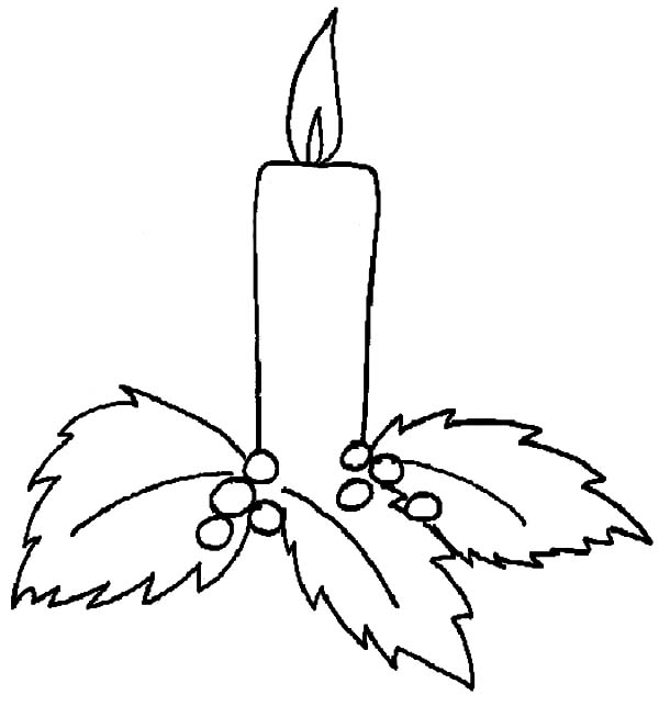 Christmas Candle Holy Light Coloring Pages  Download  Print