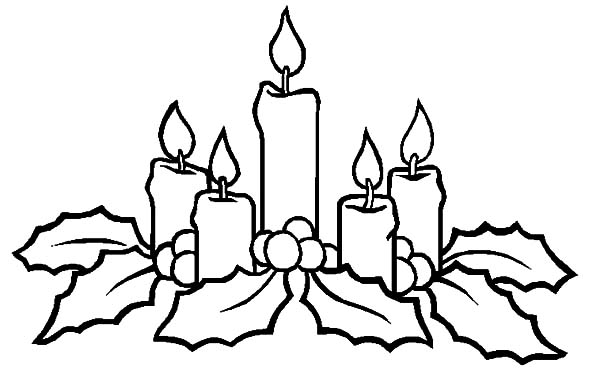 Christmas Candle Shine to Our Heart Coloring Pages  Download