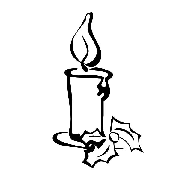 Drawing Christmas Candle Coloring Pages - Download & Print Online ...