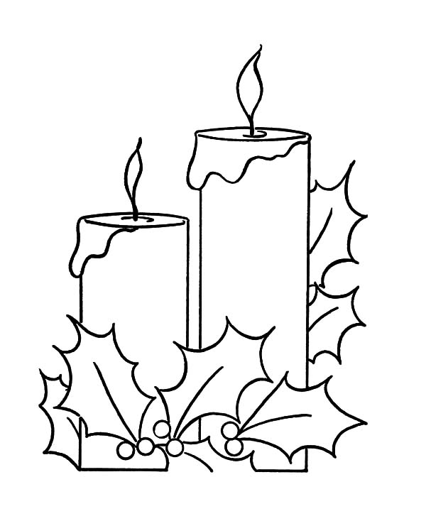 Holy Night Christmas Candle Coloring Pages - Download & Print ...