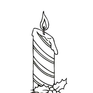 Horizontal Stripe Christmas Candle Coloring Pages