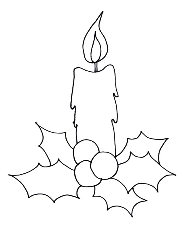 How to Draw Christmas Candle Coloring Pages  Download  Print