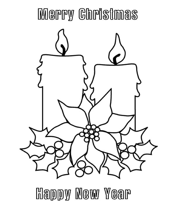 Coloring Pages Merry Christmas Datastash Co Merry And Happy New Year Coloring Pages