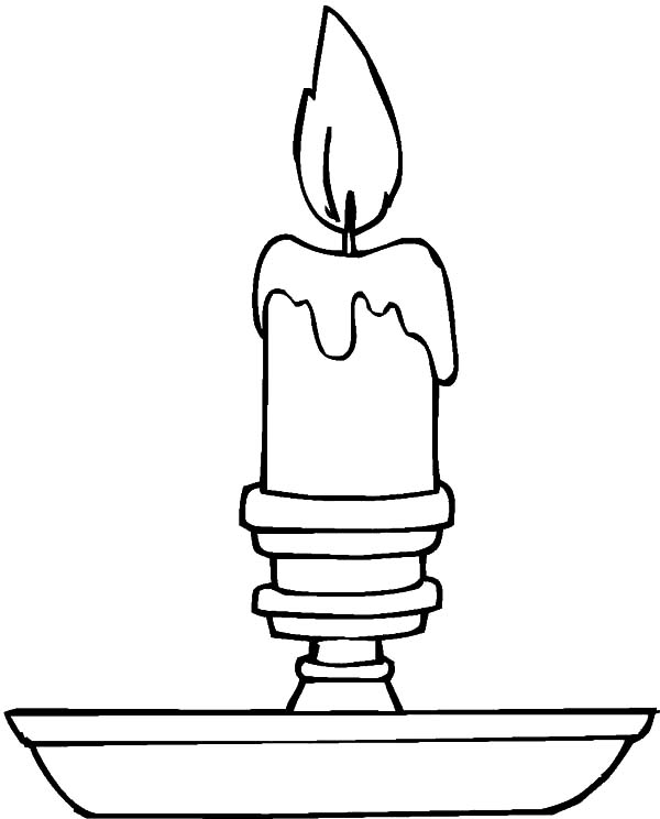 Simple Christmas Candle Coloring Pages Download Print Online