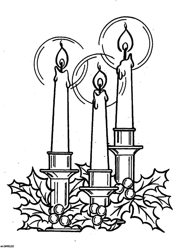 The Star of Bethlehem Christmas Candle Coloring Pages  Download
