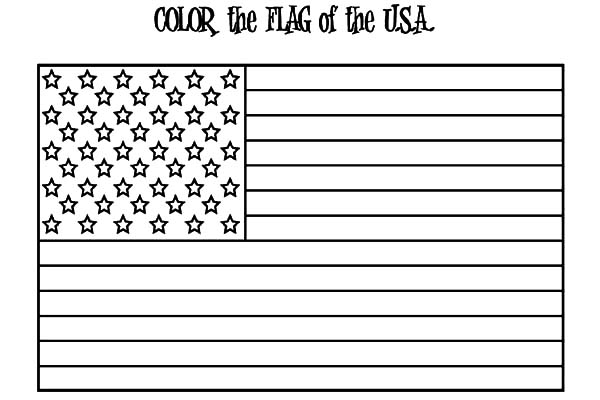 American Flag for Independence Day Coloring Pages Download