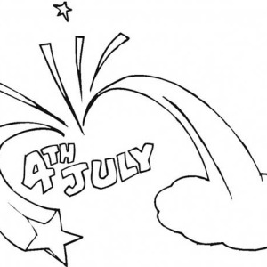 celebration of independence day coloring page