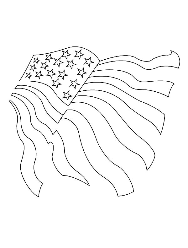 Drawing American Flag for Independence Day Coloring Pages - Download ...