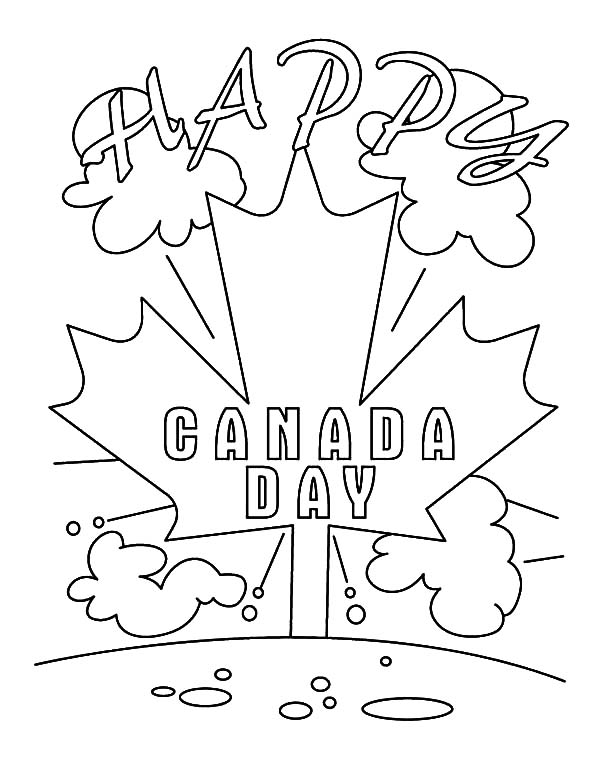 free printable canada day coloring pages - its happy day to everyone on canada day coloring pages