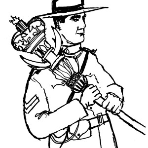 National Army on Canada Day Coloring Pages