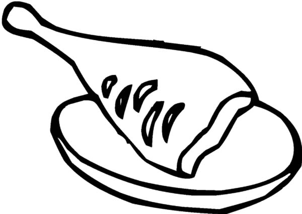 A Piece of Fried Chicken Coloring Pages