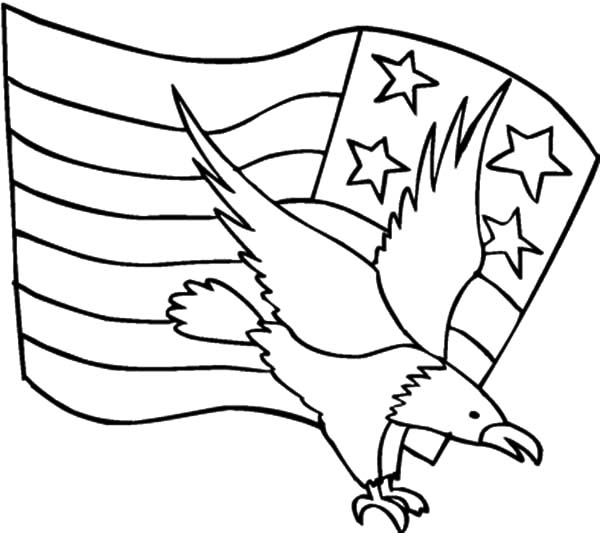 Flag Day American Eagle And Coloring Pages