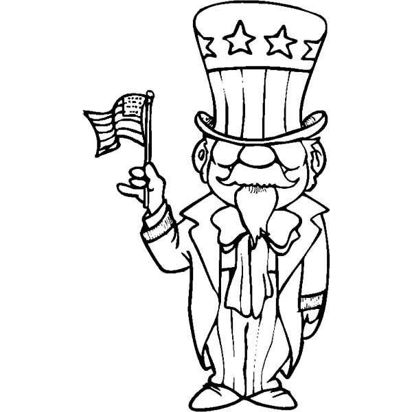 uncle sam coloring pages Uncle Sam Coloring Pages