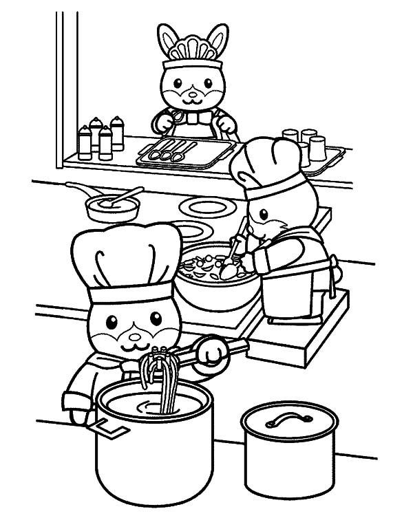 Animal Cooking Kitchen Coloring Pages Download Print Online