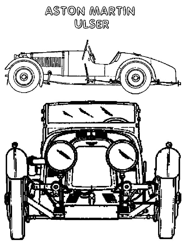 Astonmartin Ulser Lowrider Cars Coloring Pages