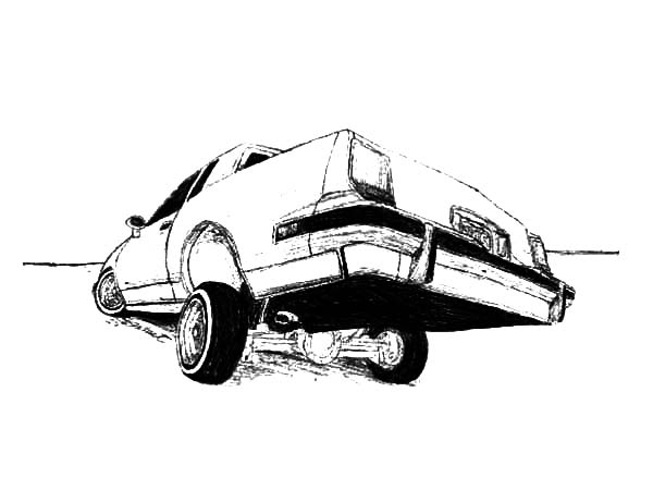 a family in lowrider cars coloring pages a family in lowrider