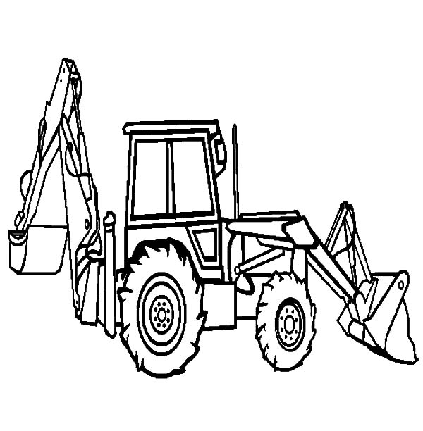 Trackhoe And Backhoe Coloring Pages Coloring Pages