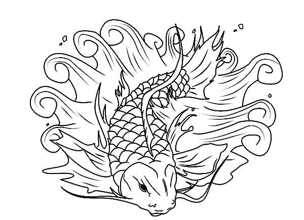 beautiful koi fish coloring pages
