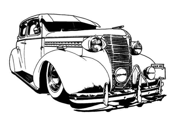 Buick Truck Lowrider Cars Coloring Pages - Download & Print Online ...