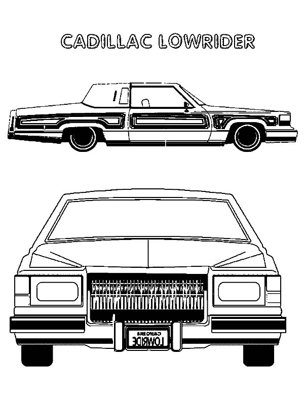 printable coloring pages of cadillac - photo#27