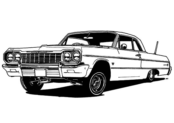Car Lower to Ground Clearance Lowrider Cars Coloring Pages