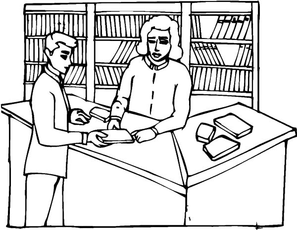 coloring pages of library books - photo#13