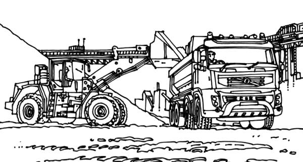 mining equipment coloring pages - photo#35