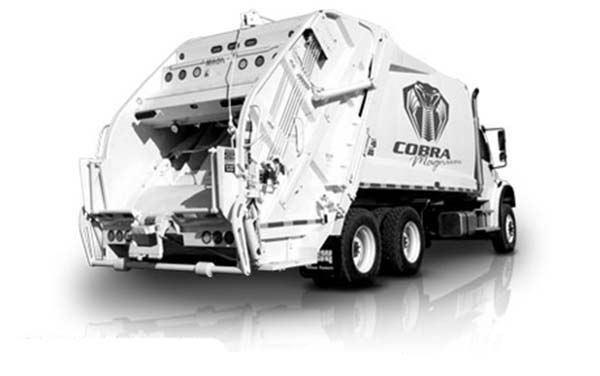Garbage Truck, : Cobra Magnum Garbage Truck Coloring Pages